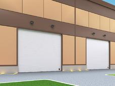Промышленные секционные ворота на проем 3300мм х 3400мм