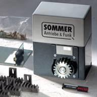 Комплект с тяговитым приводом SOMMER серии SM 40 T  для откатных ворот массой до 600 кг