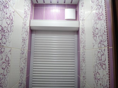рулонные шторы в туалете фото